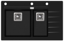 DELICIAPLUS GQD150B-601AW Czarne szkło/Czarny metalik