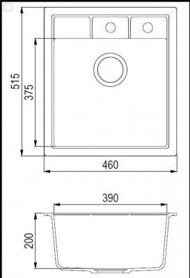 NOVA SQN100-601AW Czarny metalik