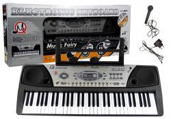 Organy Keyboard + Mikrofon Zasilacz MQ-810 MP3