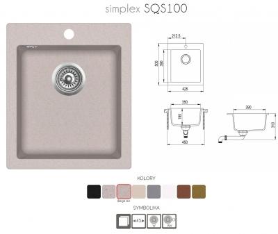 SIMPLEX SQS100-110AW Beż