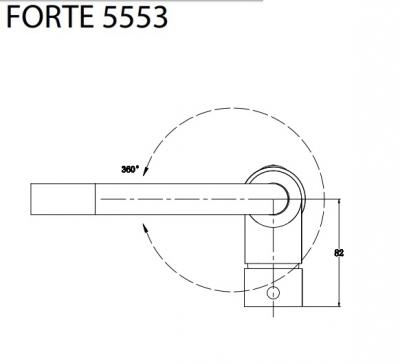 Aquasanita Bateria FORTE 5553-120 Ciemny brąz