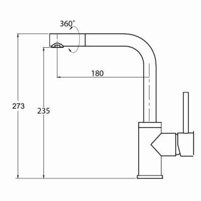 Aquasanita Bateria FORTE 5553-220 Beton