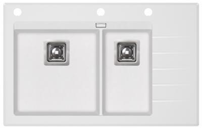 DELICIAPLUS GQD150W-710AW Białe szkło/Alba